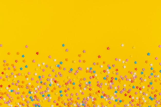 Rahmen aus süßem konfetti