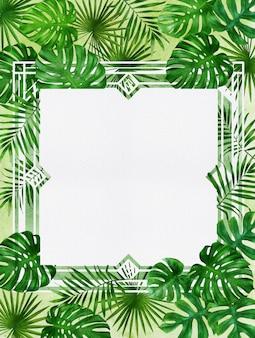 Rahmen der tropischen pflanze