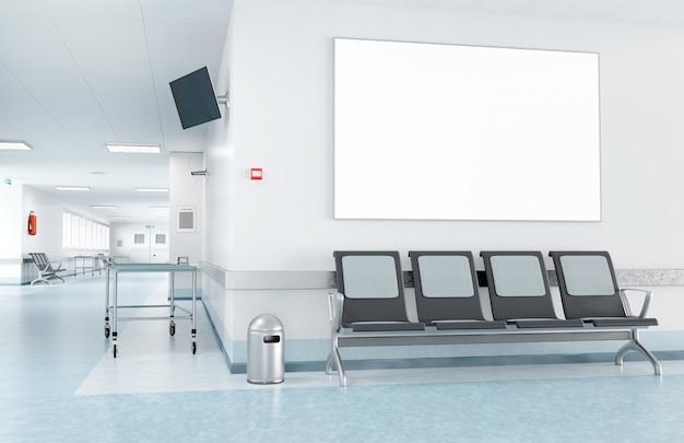 Rahmen in einem wartezimmer eines krankenhauses