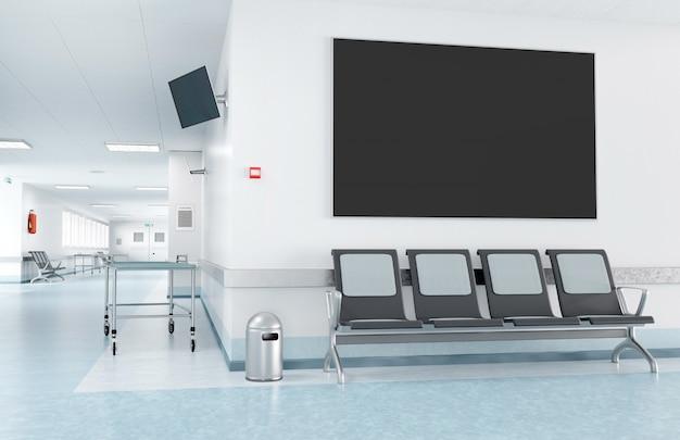Rahmen in einem wartezimmer krankenhaus
