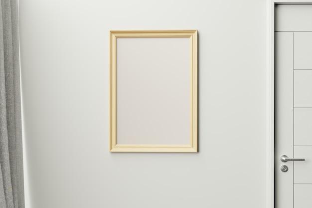 Rahmen in moderner innenwand., nahaufnahme, wohnzimmer, skandinavischen stil