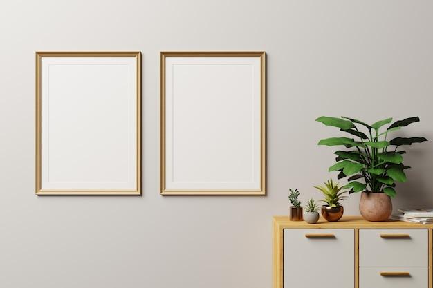 Rahmen in moderner innenwand., nahaufnahme, wohnzimmer