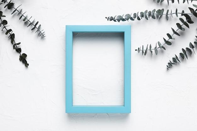 Rahmen mit natürlichen kräutern im spa