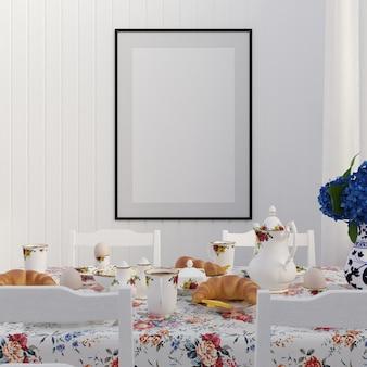 Rahmen mock-up mit dekorationen