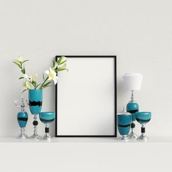 Rahmen-modell-mock-up mit dekoration