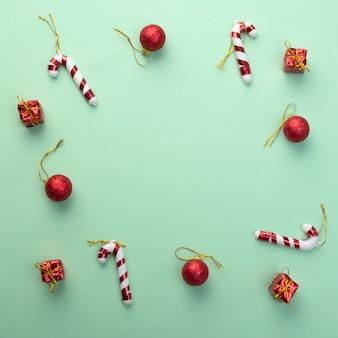 Rahmenhintergrund des neuen jahres und des weihnachten für grußkarte.