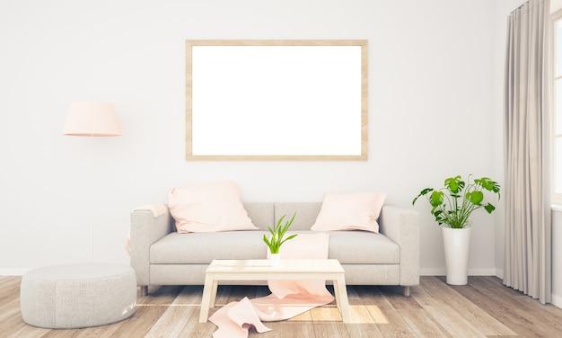 Rahmenmodell auf wohnzimmer