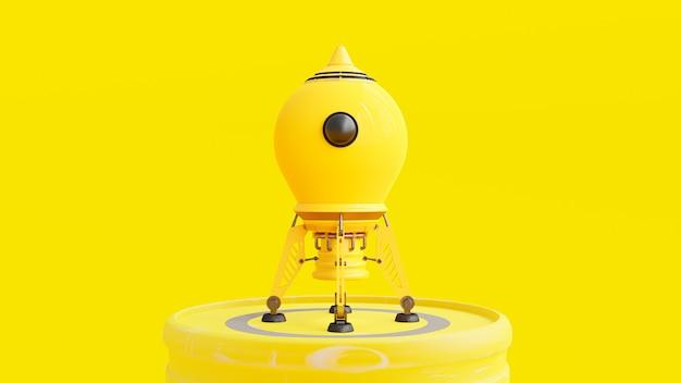Raketengelbe farbe mit beschneidungspfad.