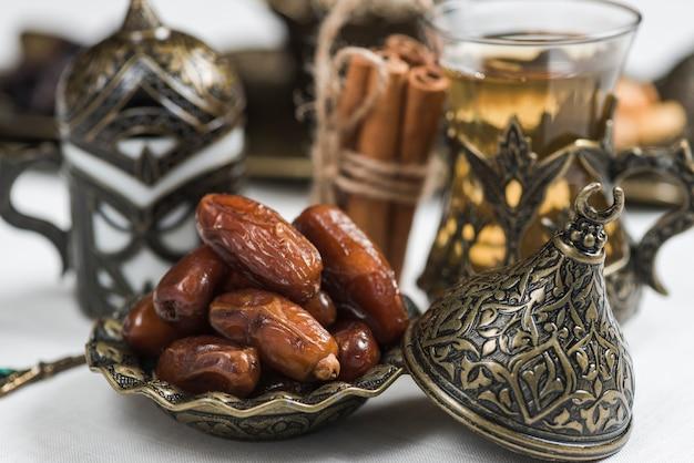 Ramadan-konzept mit daten