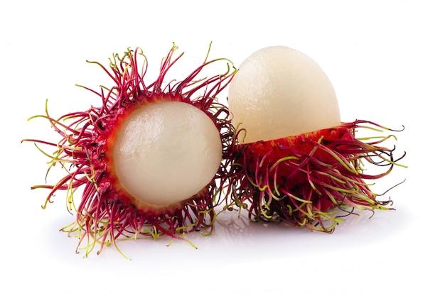 Rambutan süße frucht isoliert