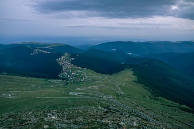 Ranca panorama von transalpina, rumänien gesehen