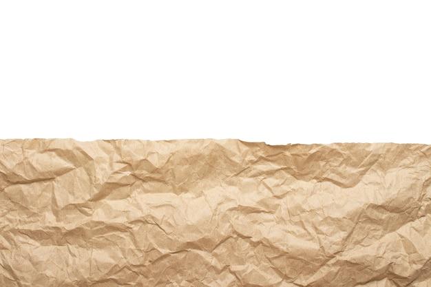 Rand der zerknitterten bastelpapierbeschaffenheit