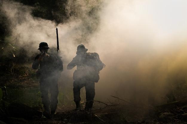 Ranger der thailändischen armee während der militäroperation