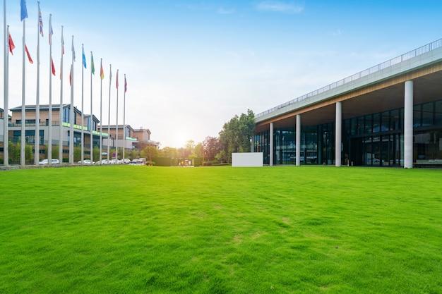Rasen des internationalen kongresszentrums