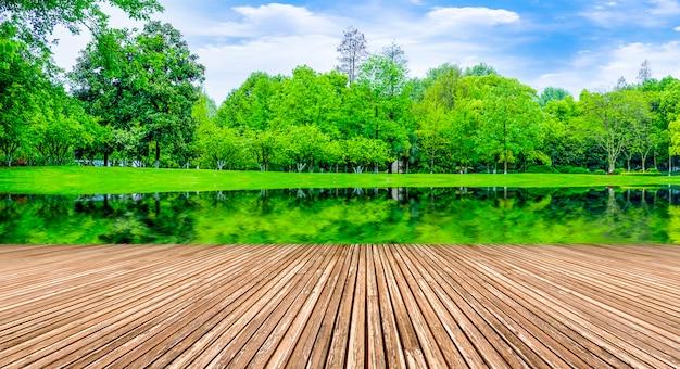 Rasen naturprodukte bord sonnige parks form