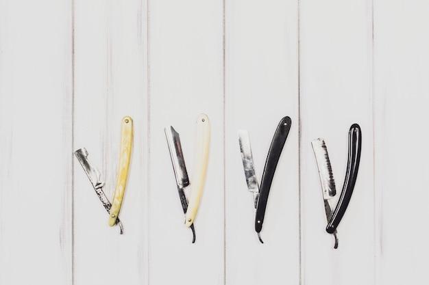 Rasiermesser zum rasieren und pflegen