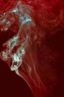 Rauch-, aroma-, dampf-, effekt