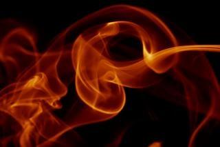 Rauch, dynamische, durchfluss-, effekt