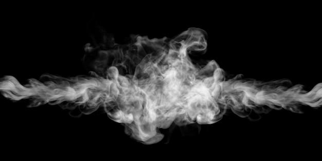 Rauch explodiert auf schwarzem hintergrund