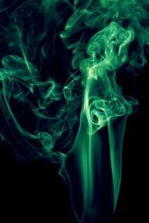 Rauch, rauch, aromatherapie, aroma