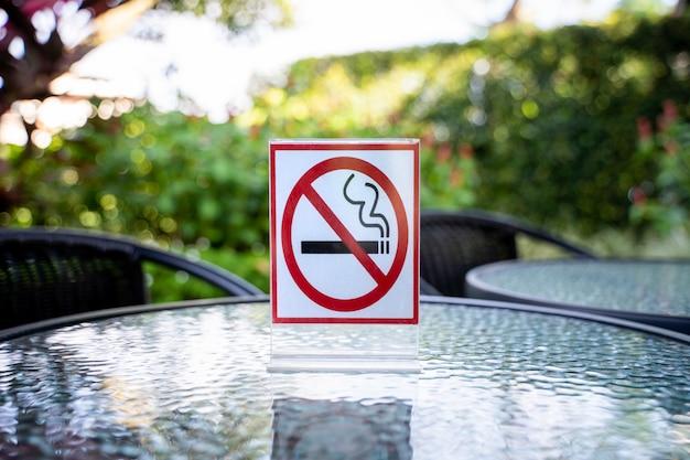 Rauchen sie nicht zeichen unterzeichnen herein innen kaffeehaus