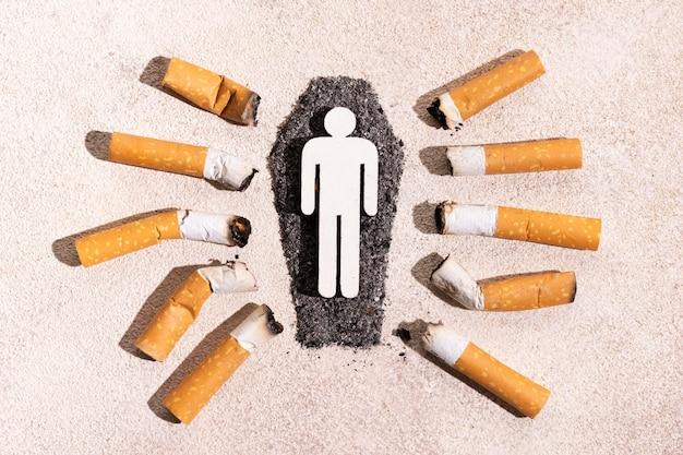 Rauchkonzept mit zigaretten