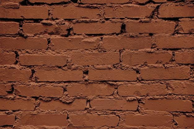 Raue monochrome braune mauer hintergrund rechteckiges mauerwerk horizontale brickwall textur mit...