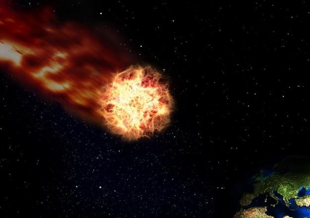 Raum sturzflug universum kometen tauchen erde