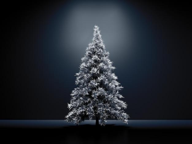 Rauminnenweihnachtsfeiertagstannenhintergrund 3d illustrations-rendering