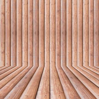Rauminnenweinlese retro mit brauner hölzerner wand und bretterboden