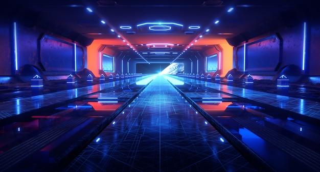Raumkanal mit lichteffekten