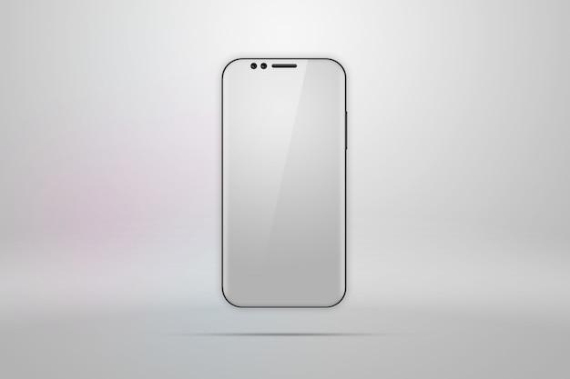 Realistische illustration mit einem picturea smartphonea licht
