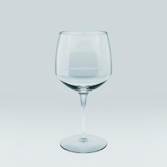 Realistische vorlage eines leeren transparenten glases. 3d-abbildung.