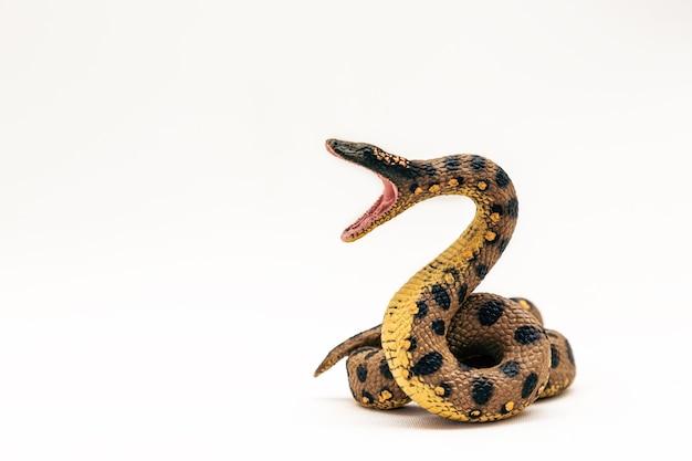 Realistisches boa constrictor spielzeug aus kunststoff