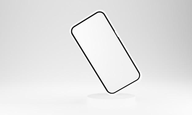 Realistisches handy-smartphone lokalisiert auf weißem hintergrund. 3d-illustration