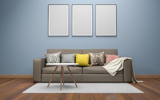 Realistisches wohnzimmer interieur