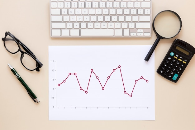 Rechner und wirtschaftstabelle