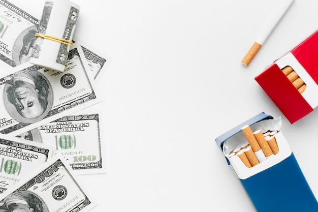 Rechnungen und zigaretten