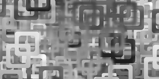 Rechteckiger hintergrund mit gekrümmten ecken mosaikgeometrisches muster unschärfe-lichteffekt