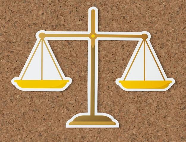 Rechtliche skala der gerechtigkeitsikone