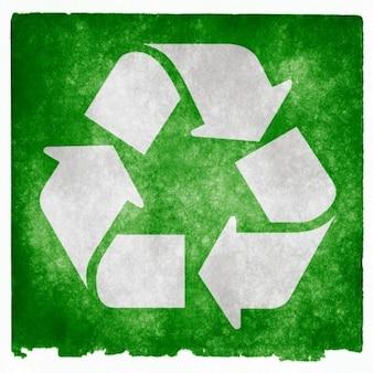 Recycling grunge zeichen