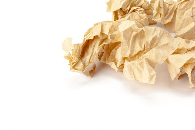 Recycling-papier auf weiß