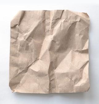 Recyclingpapier aus braunen falten
