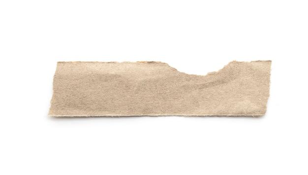 Recyclingpapierfertigkeitsstock auf einem weißen hintergrund.