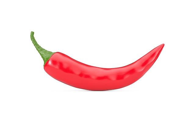Red chili pepper auf weißem hintergrund. 3d-rendering
