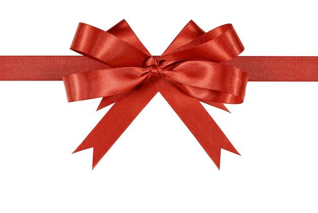 Red geschenk bogen band