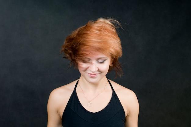 Red hair whirlpool