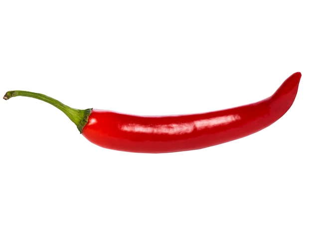 Red hot chili pepper isoliert