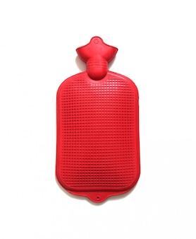 Red hot water bag auf weiß