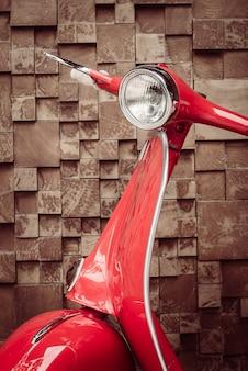 Red oldtimer motorrad